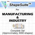 visio manufacturing shapes manufacturing and industry complete visio stencil set