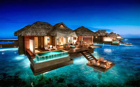 overwater bungalow sandals to open overwater bungalow suites in jamaica