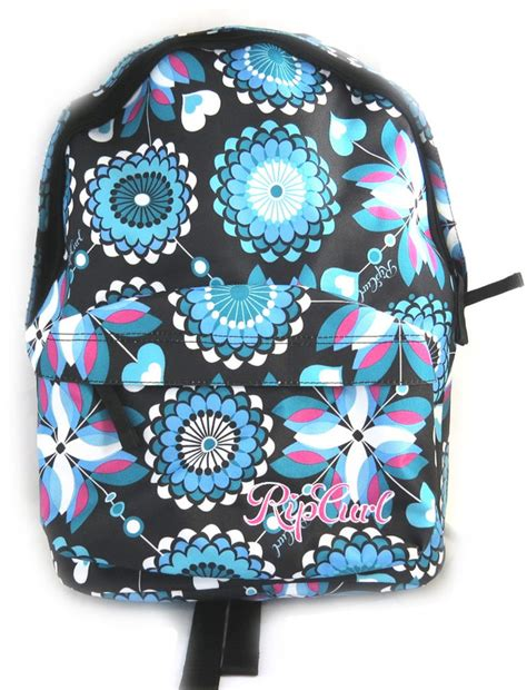 Topi Canvas Motif Ripcurl backpack rip curl blue black flowers shopstyle co uk