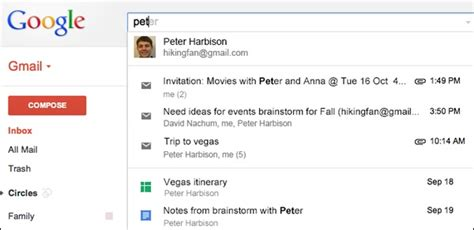 Gmail Search For Widens Gmail Search Field Trial Includes