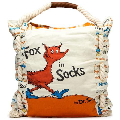 fox in socks big 0553513362 dr seuss large tote fox in socks