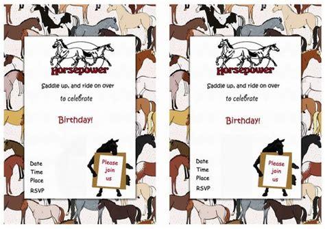 printable horse invitation horse free printable birthday party invitations birthday