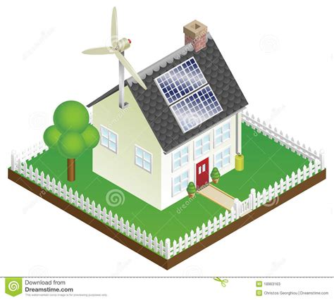 renewable energy house design sustainable renewable energy house stock photos image 18963163