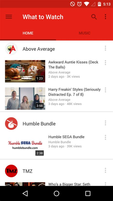 new youtube layout android download youtube 6 0 11 with material design