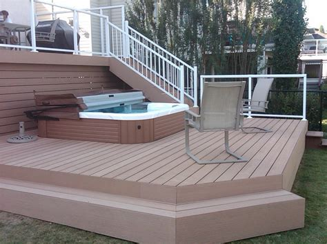 White Outdoor Lounge Chair Design Ideas Exterior Design Outdoor Staircase With White Handrail And Tub Deck Designs For Traditional