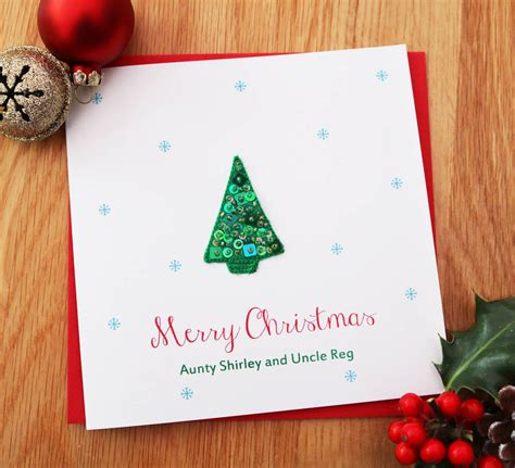 personalised sequin christmas tree card  sabah designs notonthehighstreetcom