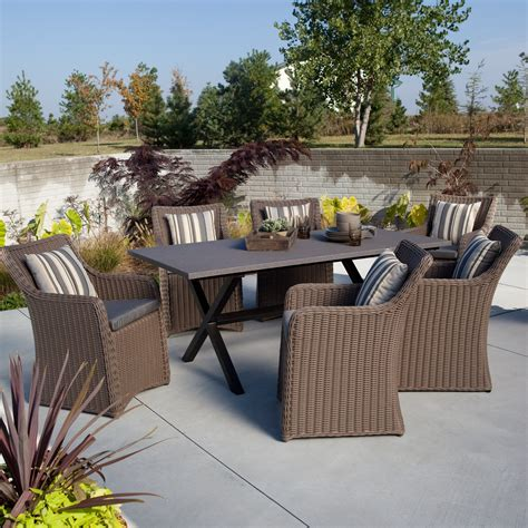 all weather wicker patio dining sets outdoor furniture patio sets shop at hayneedle