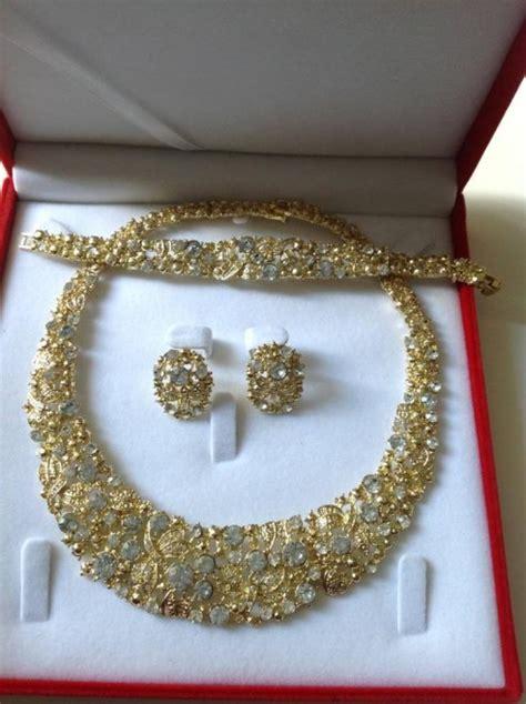 Parure plaqué or ou argent mariage   Au Royaume du bijou