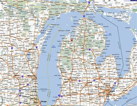 printable road maps of michigan state of michigan road map pictures to pin on pinterest