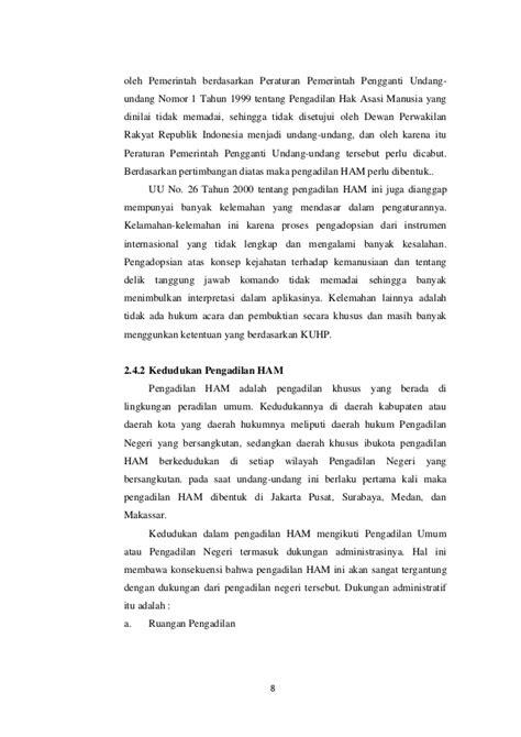 Yayasan Obor Instrumen Internasional Pokok Hak Asasi Manusia pengadilan hak asasi manusia di indonesia