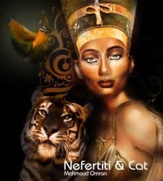 nefertiti and cat by mahmoudz on deviantart