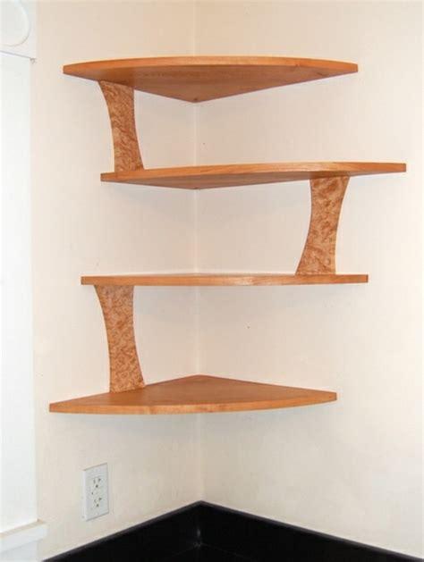 Make A Corner Shelf by A Modern Corner Shelf For Your Home Room Decorating
