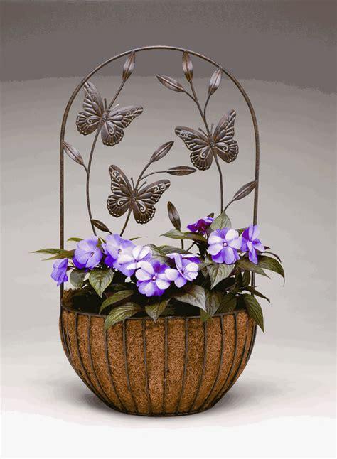 Butterfly Wall Planters butterfly wall planter with coco liner