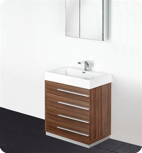 Walnut Bathroom Vanities Fresca Livello 30 Quot Walnut Modern Bathroom Vanity