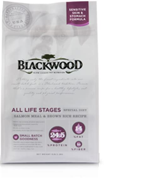 Blackwood All Stage Chicken Meal With Field Pea Grainfree salmon meal brown rice blackwood pet food