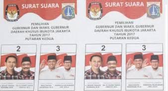 gaet pemilih foto djarot saiful di surat suara kini