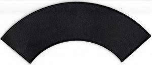 Blank Top Or Bottom Rocker Patch 10 3 4 X 3 Black Background Mc Rocker Template