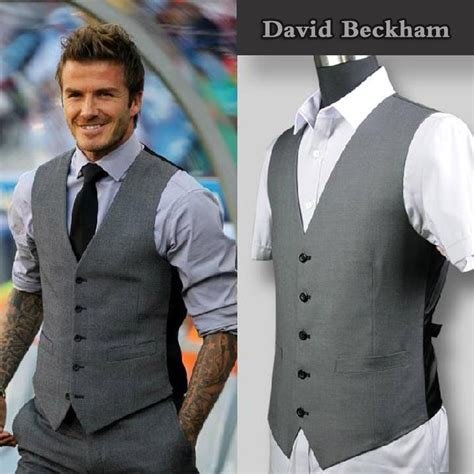 New Arrival Promo Selempang Beckham Nh03bv302 new arrival suit vests beckham clothing fashion casual s slim fit vest waistcoat
