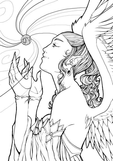 angel lineart   jornorinn  deviantart angel