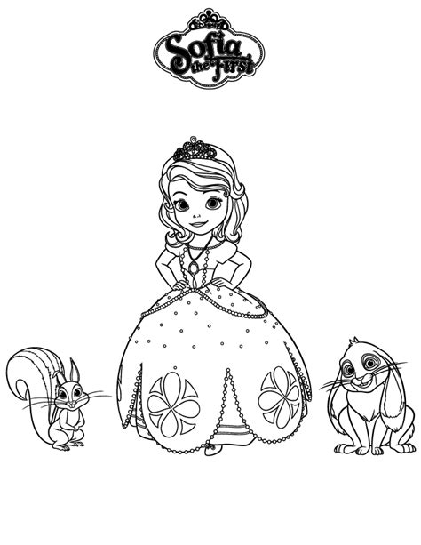 clover coloring page free sofia the first coloring pages sofia the first whatnought and clover coloring page