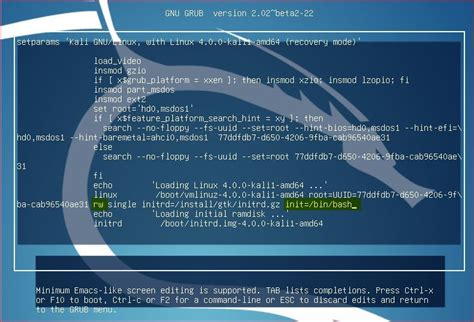 reset windows password kali linux how to reset lost password of kali linux technig