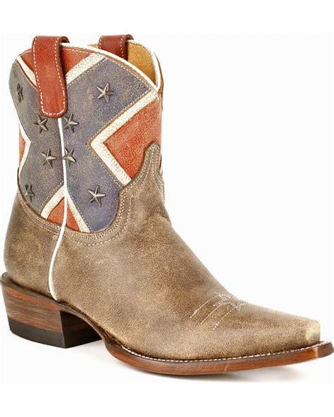 confederate flag boots roper s rebel flag boots snip toe sheplers