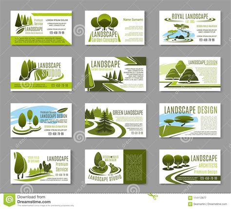 landscape business card template avery lawn care business card templates gallery avery business