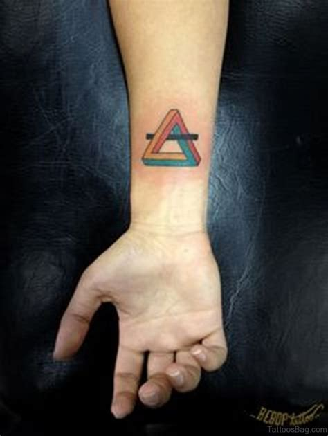 coloured wrist tattoos 68 mind blowing triangle tattoos on wrist