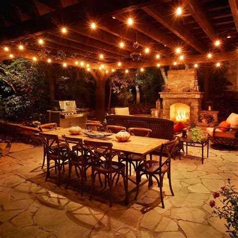 outdoor kitchen construction night lights 16 best outdoor lights images on pinterest patio ideas