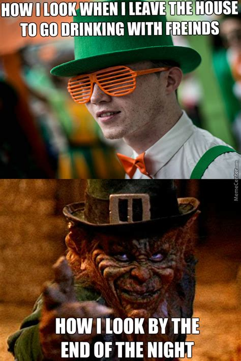 Funny St Patrick Day Meme - before after drinking on st patrick s day by allranger