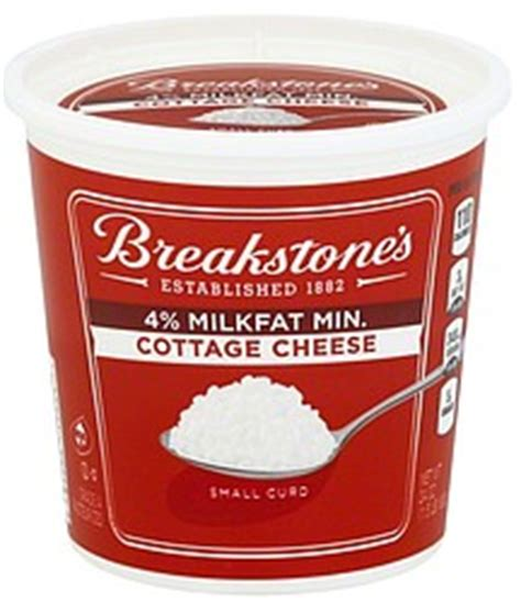 breakstones cottage cheese small curd 4 milkfat min 24 0