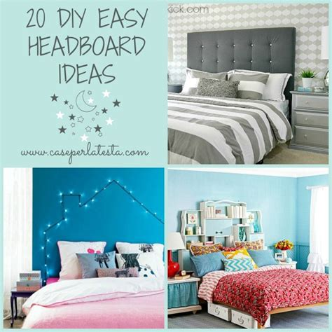 easy headboard ideas 20 idee di testiere letto fai da te 20 diy easy
