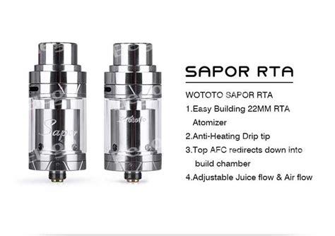 Sapor Rta By Wotofo Authen wotofo sapor rta rebuildable tank atomizer with the dual