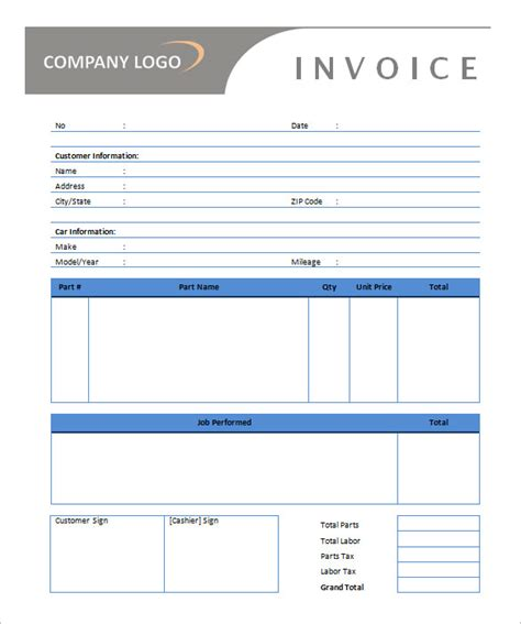 generic invoice template word auto repair invoice template microsoft office 50 generic