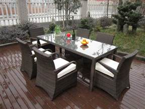 Plastic Patio Furniture Sets by Rattan Garden Dining Sets Washable Resin Wicker Patio