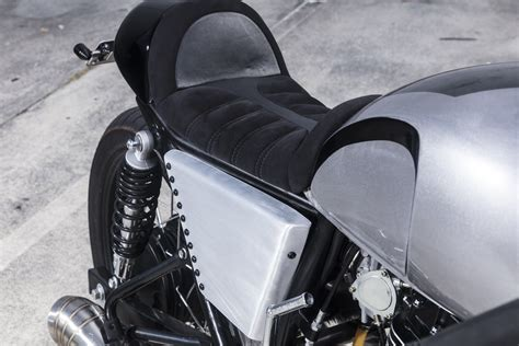 motorcycle seat upholstery brisbane sol invictus nemesis 400 cafe racer a custom from pupose