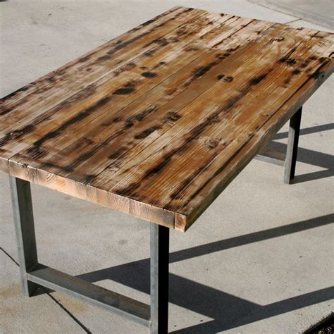 rustic butcher block table made rustic recycled butcher block dinning table by