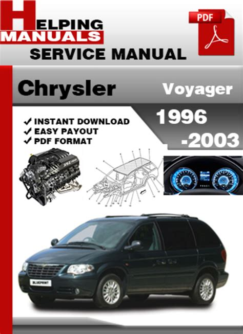 service manual how fix replacement 1996 chrysler town chrysler voyager 1996 2003 service repair manual download downloa
