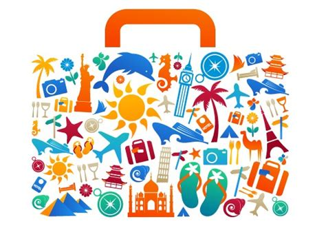 Elements Of My Vacation by Travel Elements With Bag Creative Vector Vector Other