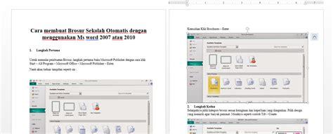 cara membuat brosur word download cara membuat brosur sekolah otomatis menggunakan