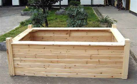 Wooden Raised Garden Bed Kits by Wooden Seating Raised Bed