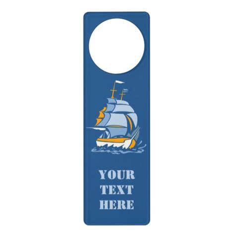 sailboat custom door hanger zazzle