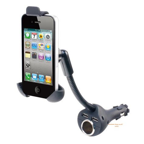 Car Holder Universal With Dual Usb Charger universal car phone charger holders cigarette lighter dual usb charger mount stand for iphone