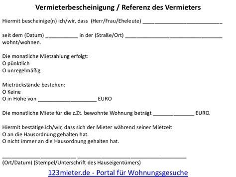 Wohnungsbewerbung Brief Vorlage Vermieterreferenz F 252 R 123 Mieter De Portal F 252 R Wohnungsgesuche