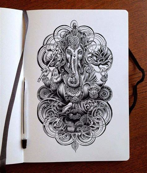 ganesha tattoo klein bennet klein tattoo pinterest