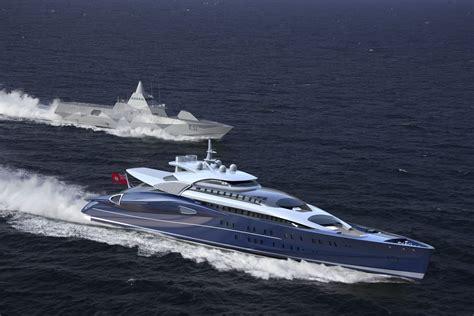 hydrofoil boat def blohm and voss semi custom gas turbine super yacht