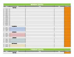 social media content calendar template social media content calendar template via hootsuite