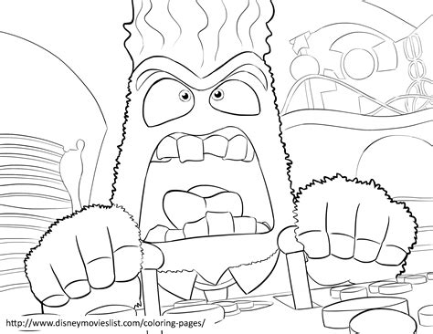 coloring page of anger from inside out coloriage vice versa les beaux dessins de dessin anim 233 224