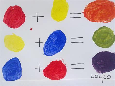 tavola colori primari e secondari scuola in valle atelier di pittura