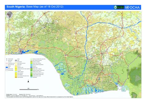 october 2012 mapping worlds south nigeria base map as of 18th oct 2012 nigeria